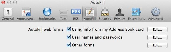 Disable Safari Autofill screenshot