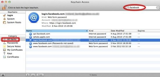 Find Lost Passwords On The Mac Using Keychain Access ...