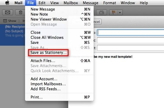 Save As Stationery