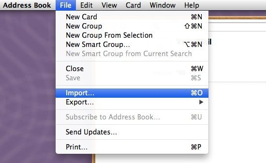 Address Book Import