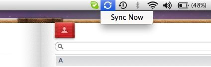 Sync Now Menubar Button
