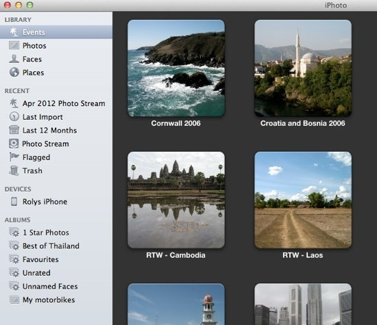 iPhoto Step 1 - iPhone in Device List