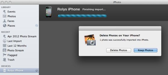 iPhoto Step 3 - Keep or Delete Photos