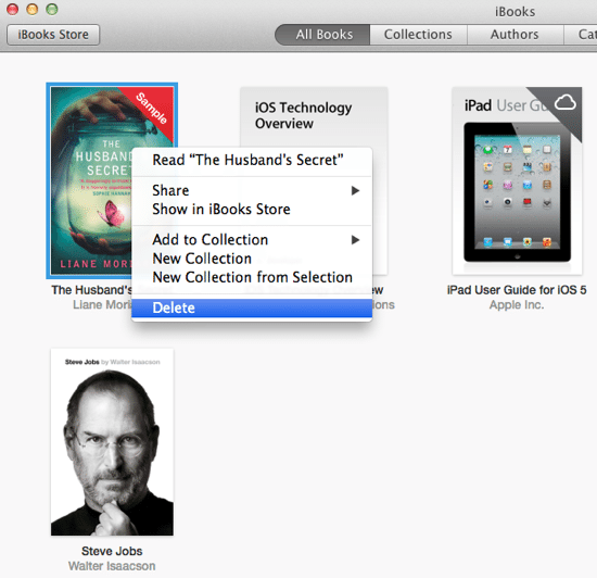 iBooks Options