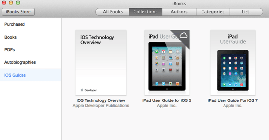 View iBook Collections