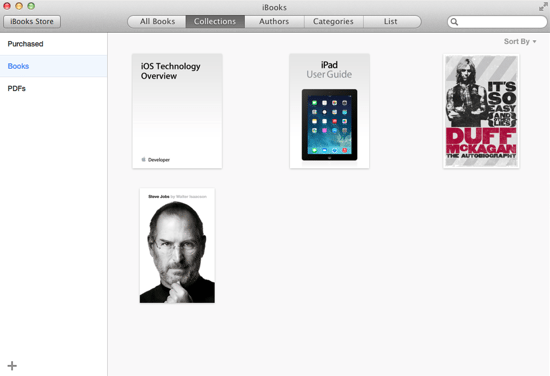 iBooks Main Screen
