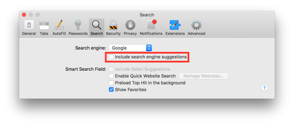 How to disable search suggestions on iOS and OS X
