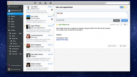 One of the most popular third-party email apps, Sparrow is intended for users looking for a simple, no-frills email client